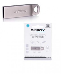 Syrox Metal / 8 GB / Usb 2.0 FLASH BELLEK SYX-USB-8 um8