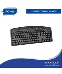 POLYGOLD PG-948 USB MULTİMEDİA KLAVYE